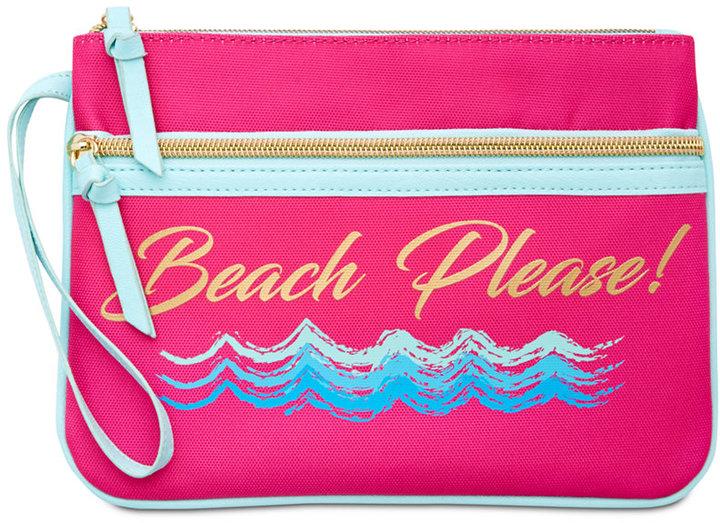 beach please clutch beach bag