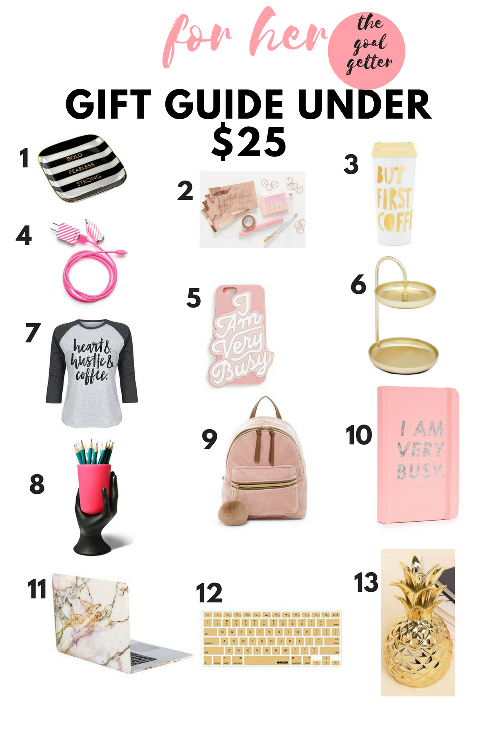 gift guide under $25 for her personality type - the goal getter